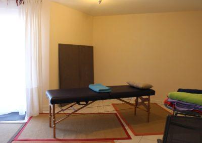 cabinet, table de massage